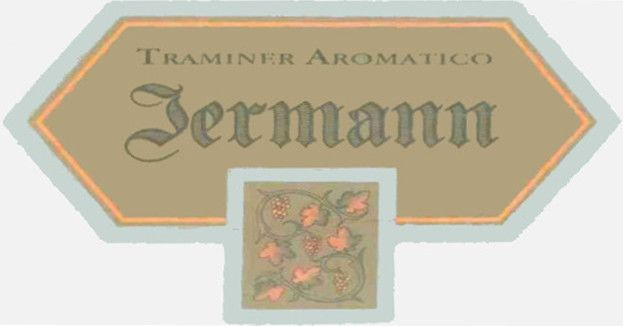 Jermann Traminer Aromatico 2012 Front Label