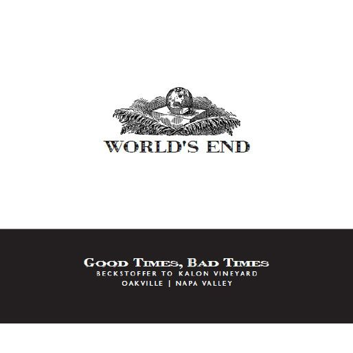 World's End Good Times Bad Times Cabernet Sauvignon 2010 Front Label