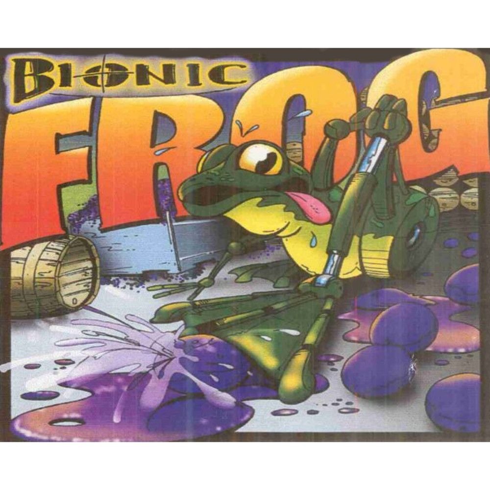 Cayuse Bionic Frog Syrah (slightly torn label) 2009 Front Label