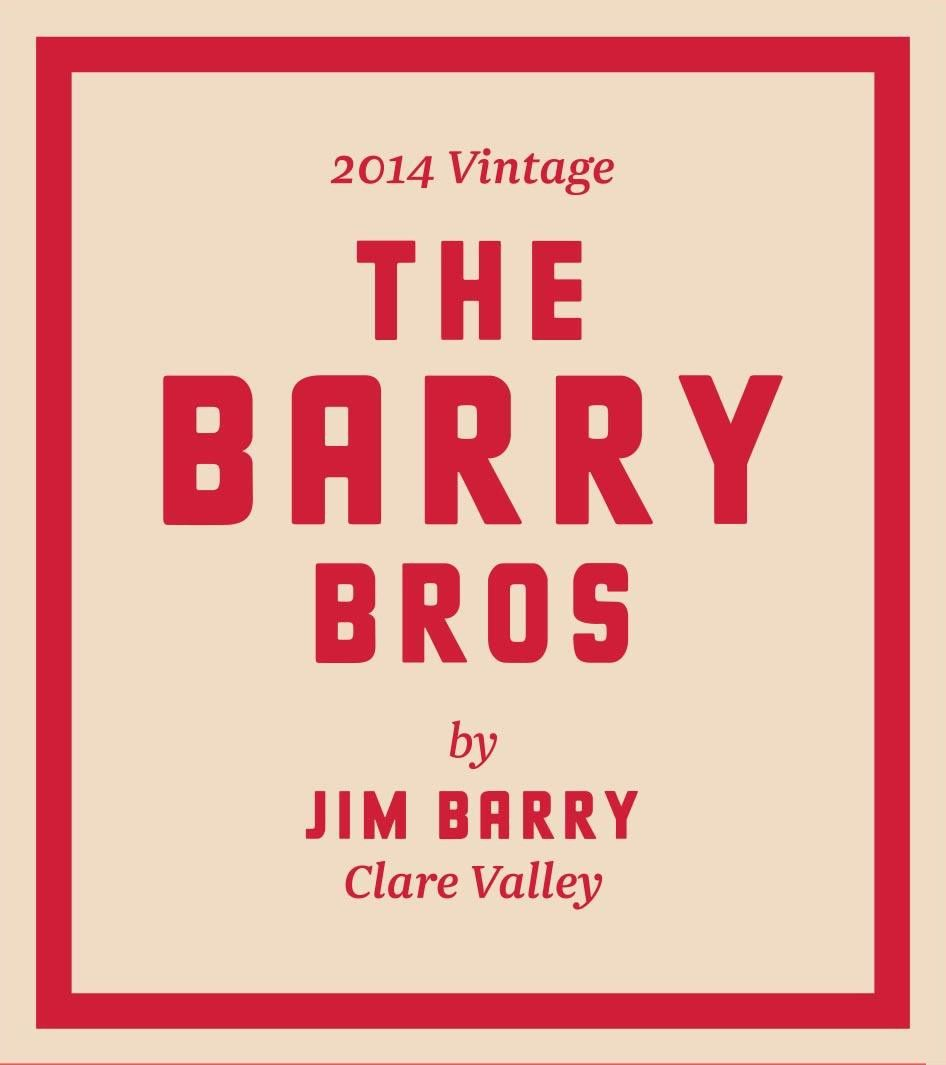 Jim Barry The Barry Bros Red Blend 2014 Front Label