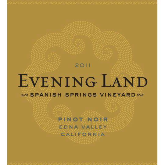 Evening Land Spanish Springs Pinot Noir 2011 Front Label