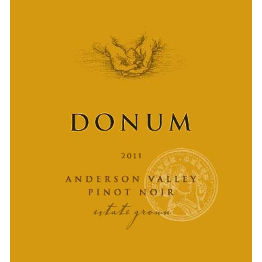 The Donum Estate Anderson Valley Estate Pinot Noir 2011 Front Label