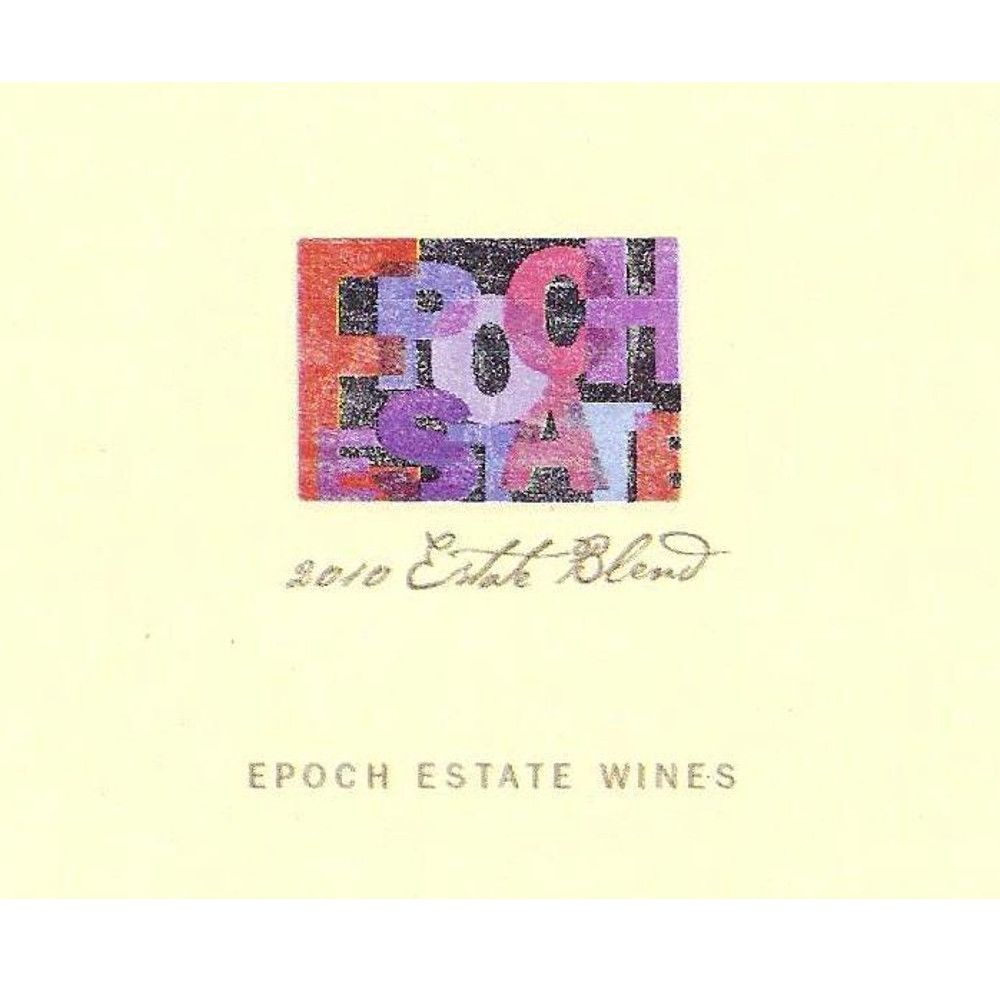 Epoch Estate Blend Paderewski Vineyard 2010 Front Label