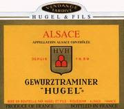 Hugel Vendange Tardive Gewurtztraminer (half-bottle) 1990 Front Label
