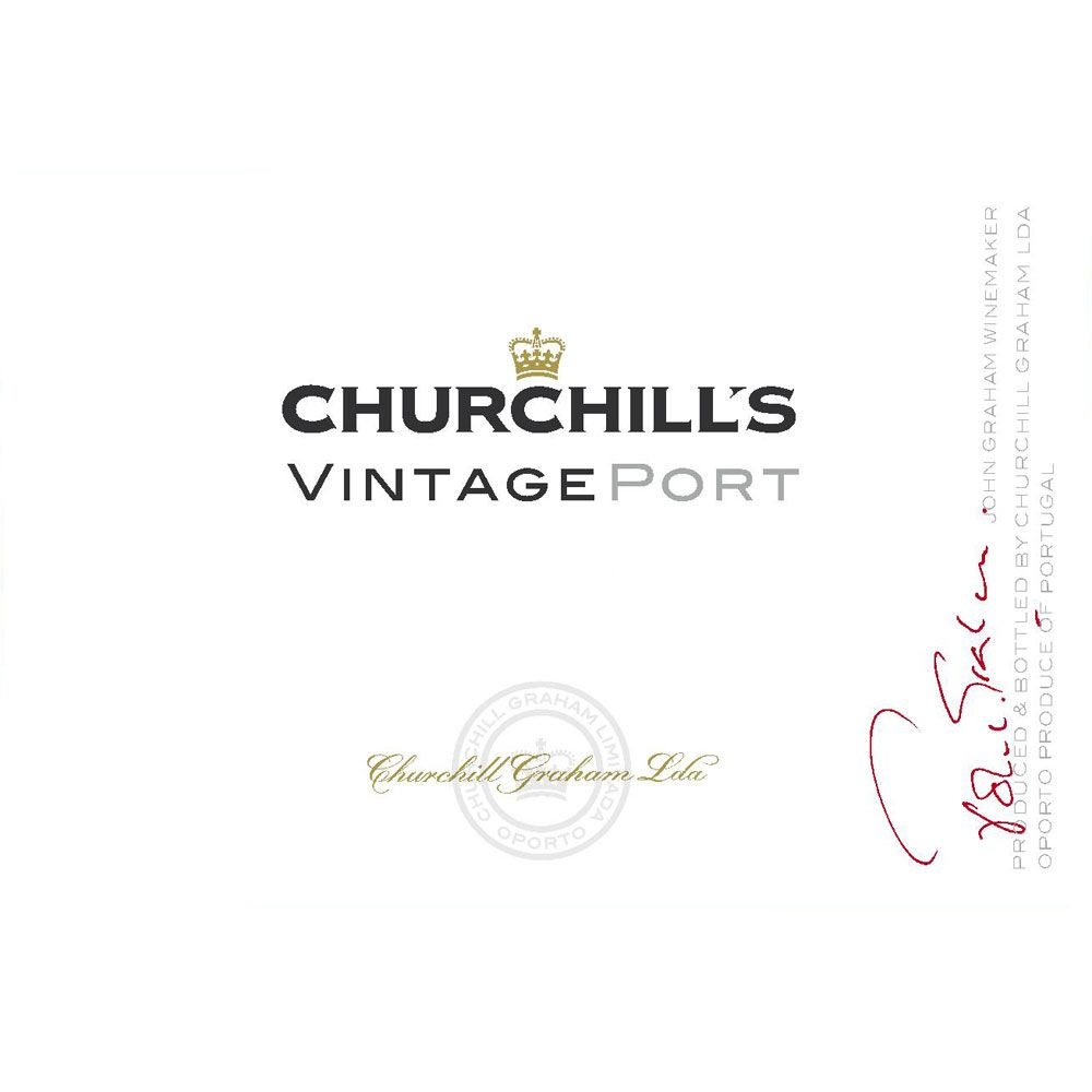 Churchill's Vintage Port (375ML half-bottle) 2011 Front Label