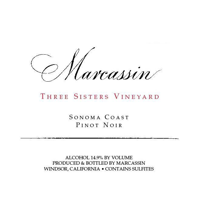 Marcassin Three Sisters Vineyard Pinot Noir 2009 Front Label