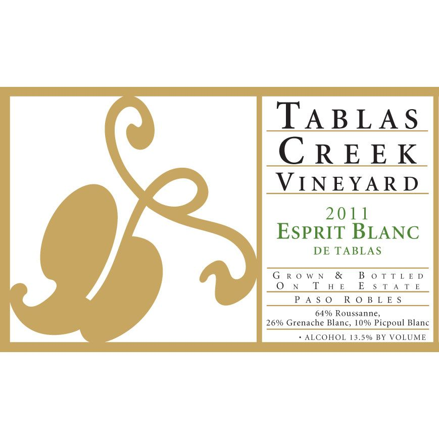 Tablas Creek Esprit de Tablas Blanc (375ML half-bottle) 2011 Front Label