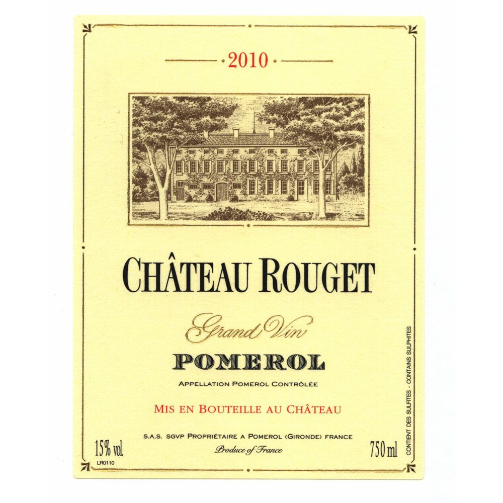 Chateau Rouget  2010 Front Label