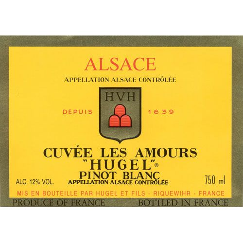 Hugel Pinot Blanc Cuvee Les Amours 2010 Front Label