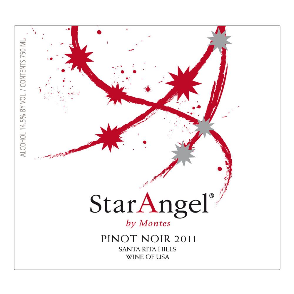 Montes Star Angel Pinot Noir 2011 Front Label