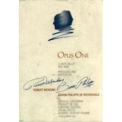 Opus One (375ML half-bottle) 2010 Front Label