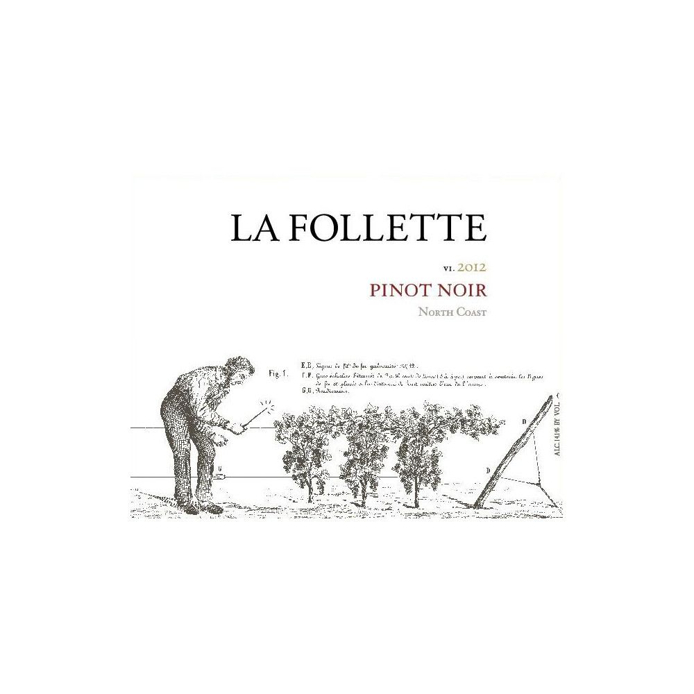 La Follette North Coast Pinot Noir 2012 Front Label