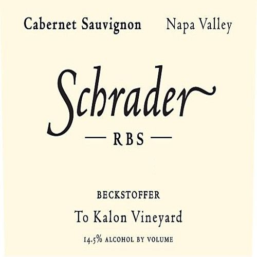 Schrader RBS To Kalon Vineyard Cabernet Sauvignon 2011 Front Label