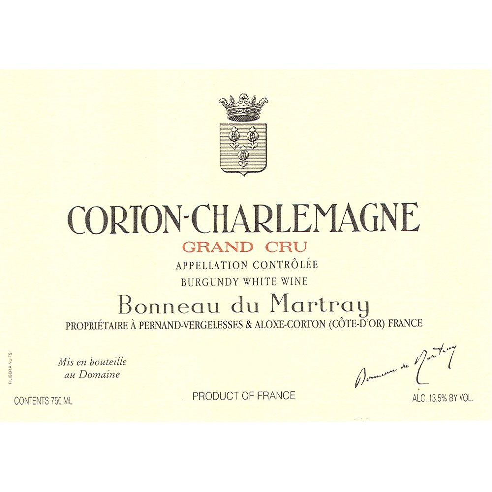 Bonneau du Martray Corton Charlemagne Grand Cru 2010 Front Label