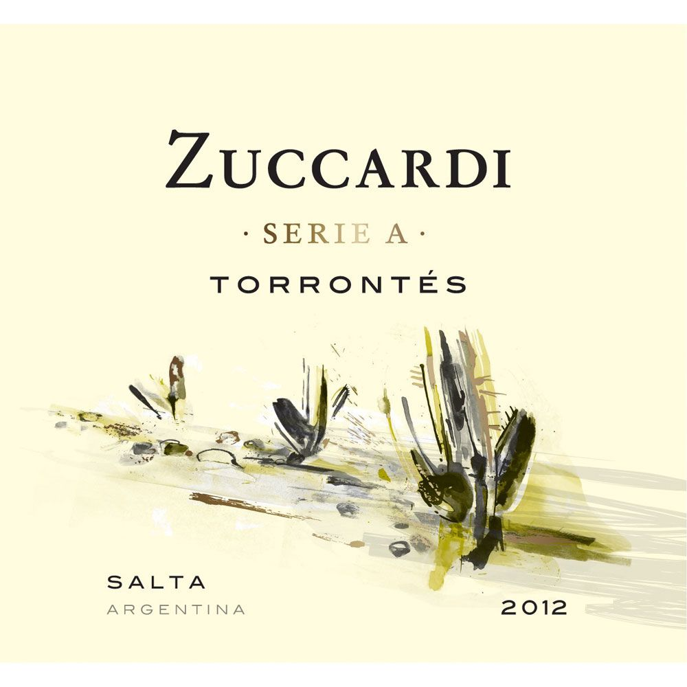 Zuccardi Serie A Torrontes 2012 Front Label
