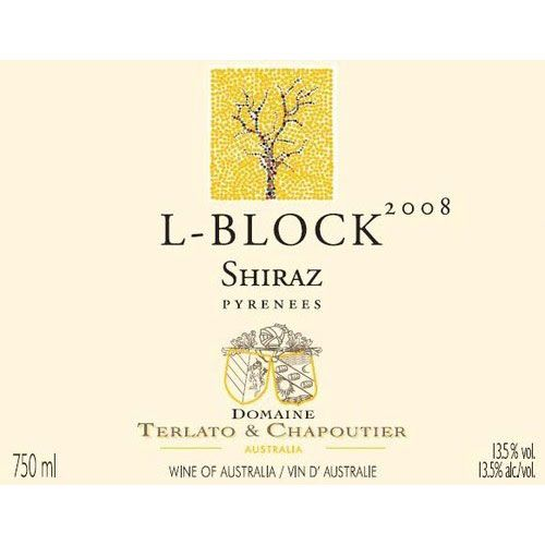 Domaine Terlato & Chapoutier L Block Shiraz 2008 Front Label