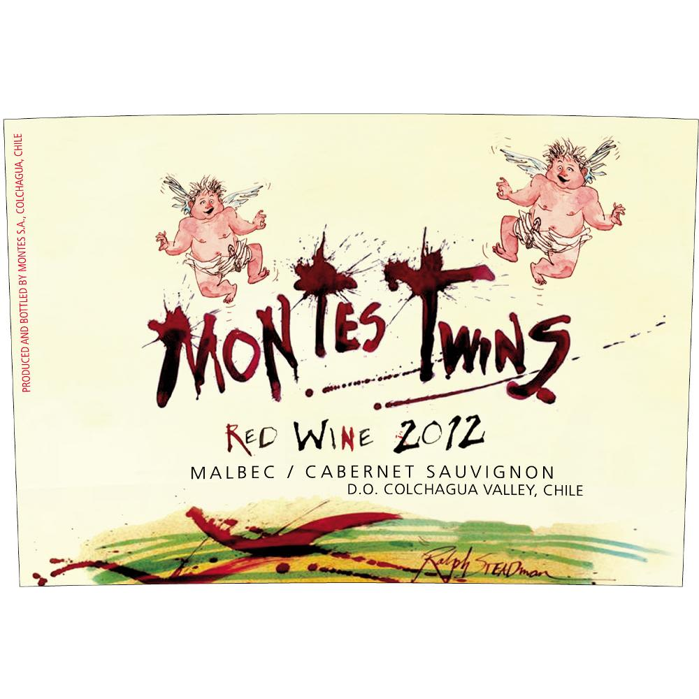 Montes Twins Red Blend 2012 Front Label