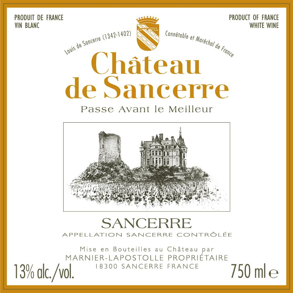 Chateau de Sancerre Blanc 2012 Front Label