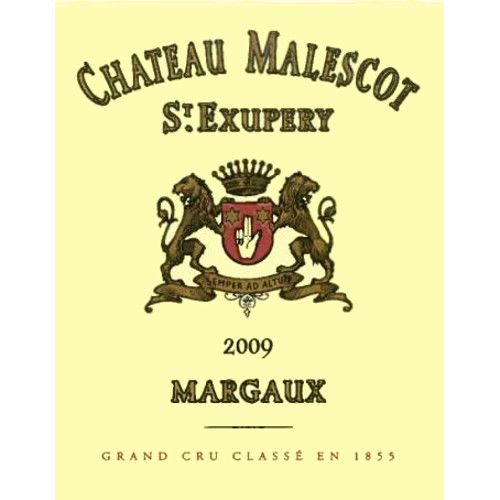 Chateau Malescot St. Exupery  2009 Front Label