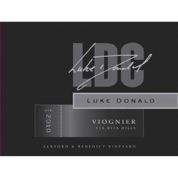 Luke Donald Collection Viognier 2010 Front Label