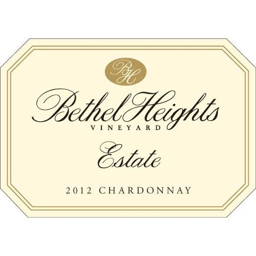 Bethel Heights Estate Grown Chardonnay 2012 Front Label