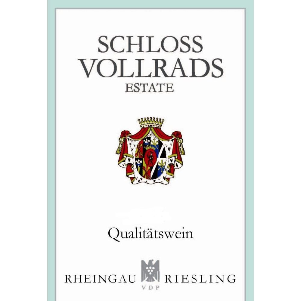 Schloss Vollrads Riesling QbA 2012 Front Label