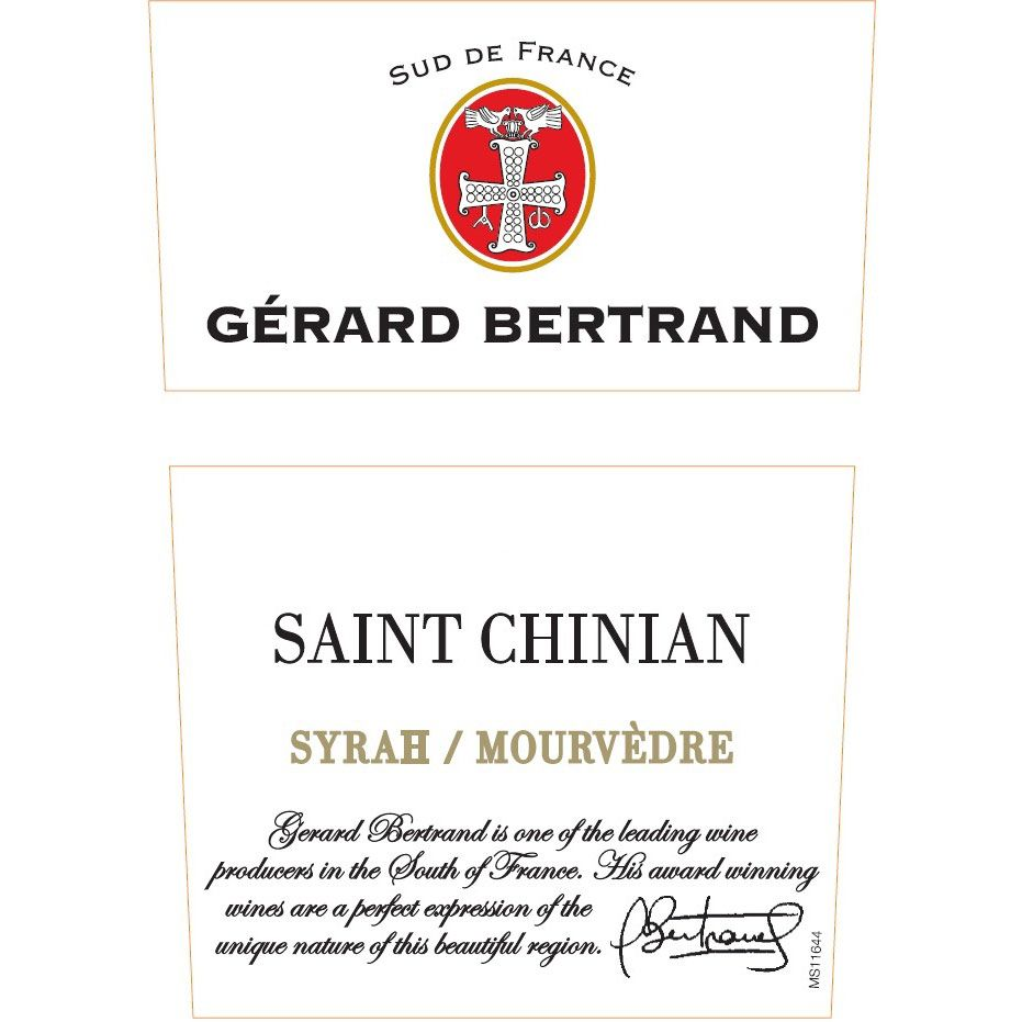 Gerard Bertrand Saint Chinian 2010 Front Label