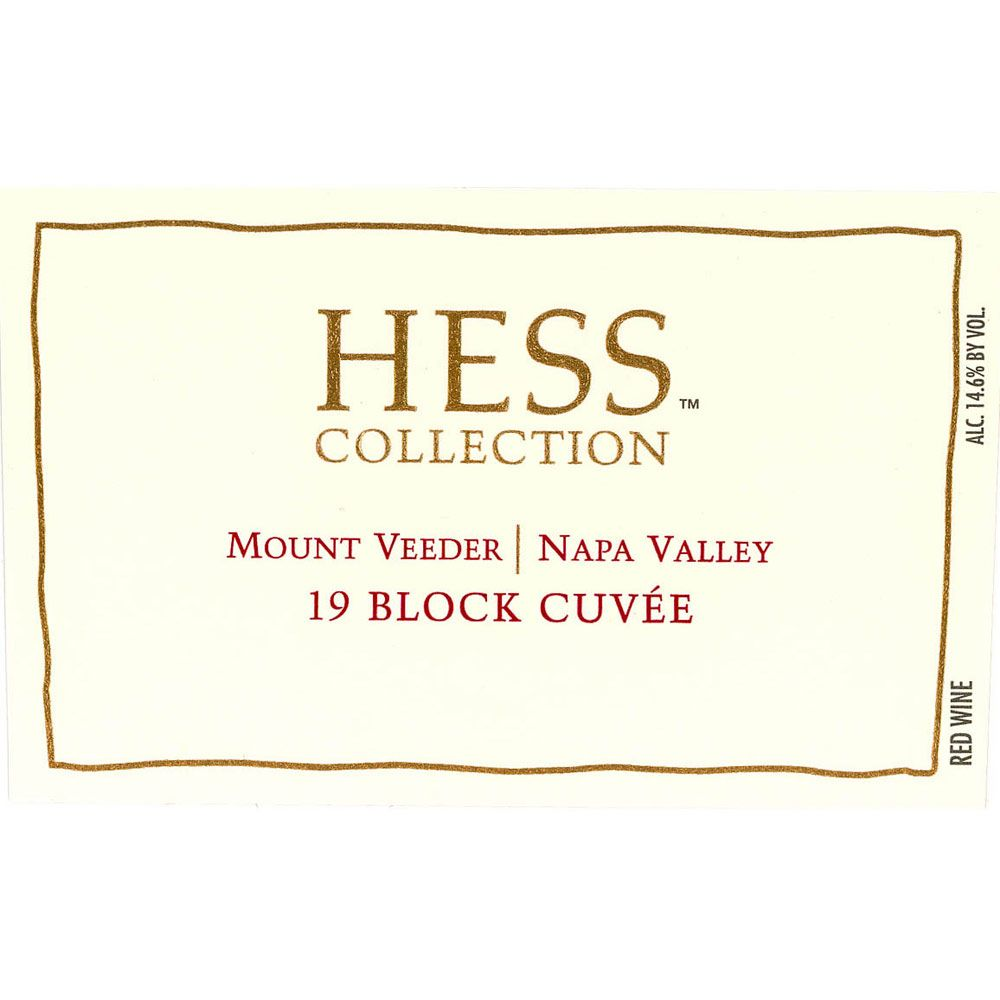 Hess Collection 19 Block Cuvee Mt Veeder 2010 Front Label