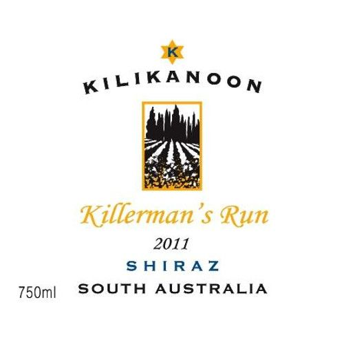 Kilikanoon Killerman's Run Shiraz 2011 Front Label