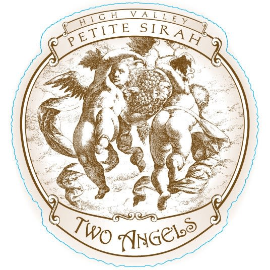 Two Angels Petite Sirah 2009 Front Label