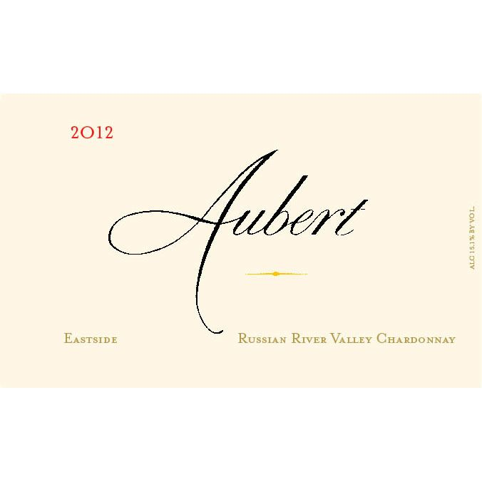 Aubert Eastside Russian River Chardonnay 2012 Front Label