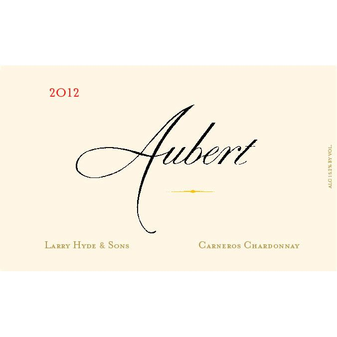 Aubert Larry Hyde & Sons Vineyard Chardonnay 2012 Front Label