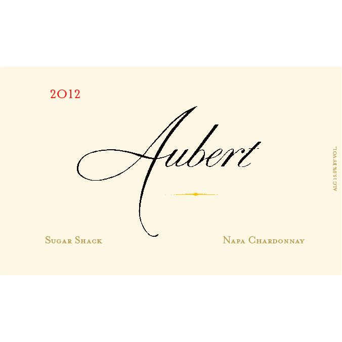 Aubert Sugar Shack Estate Chardonnay 2012 Front Label