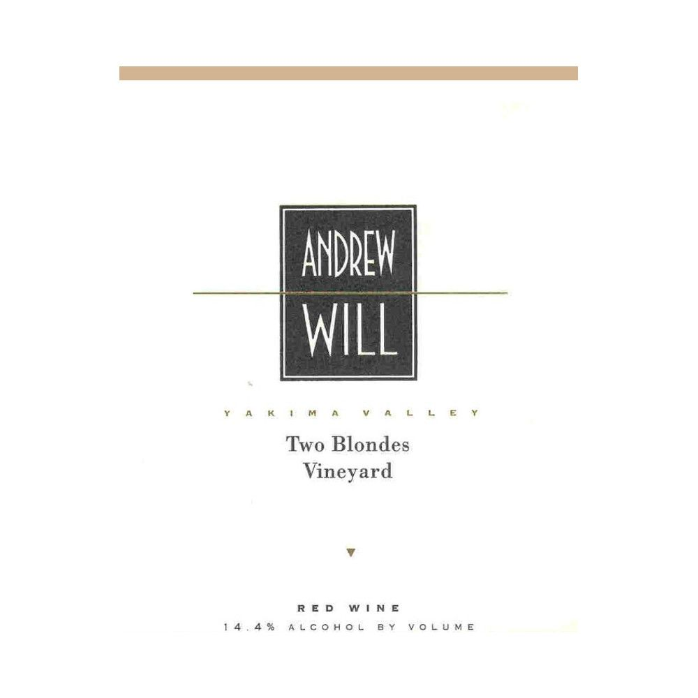 Andrew Will Winery Two Blondes Vineyard Red 2010 Front Label