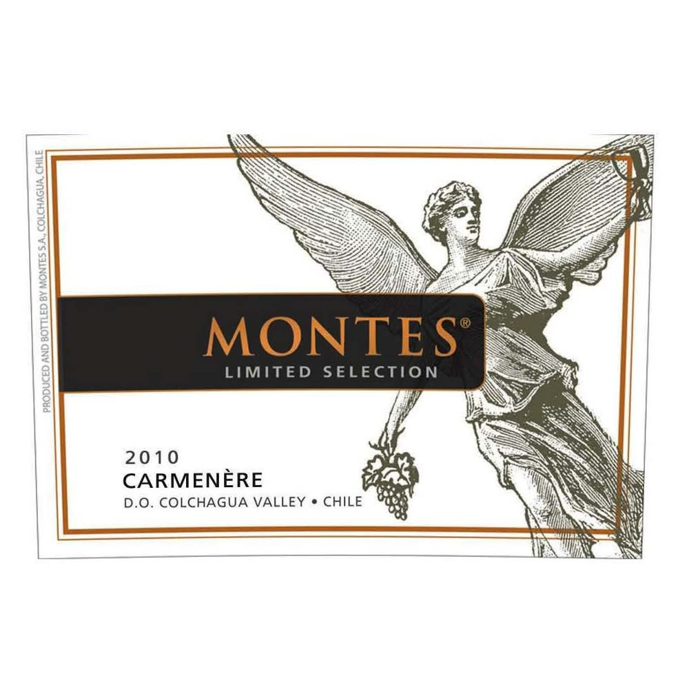 Montes Limited Selection Carmenere 2010 Front Label