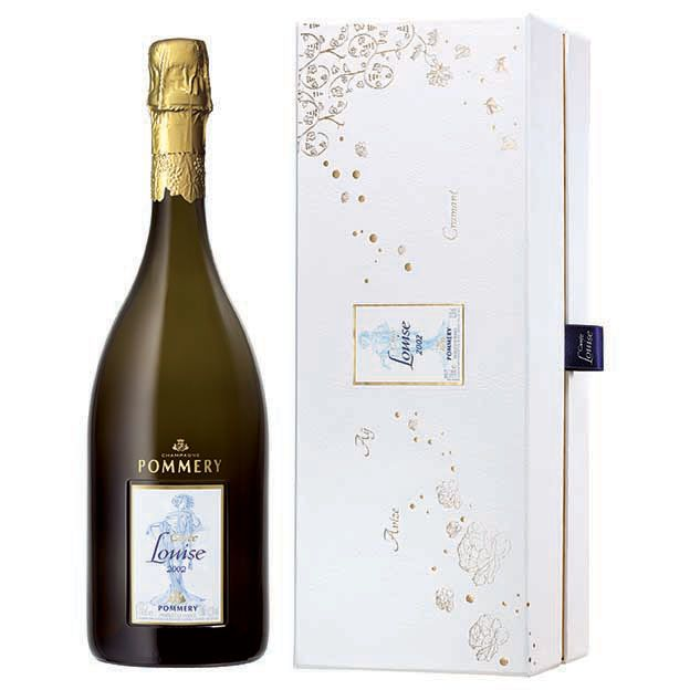 Pommery Cuvee Louise with Gift Box 2002 Front Label