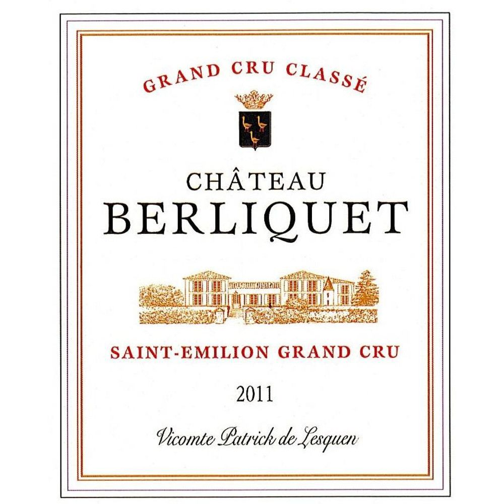 Chateau Berliquet  2011 Front Label