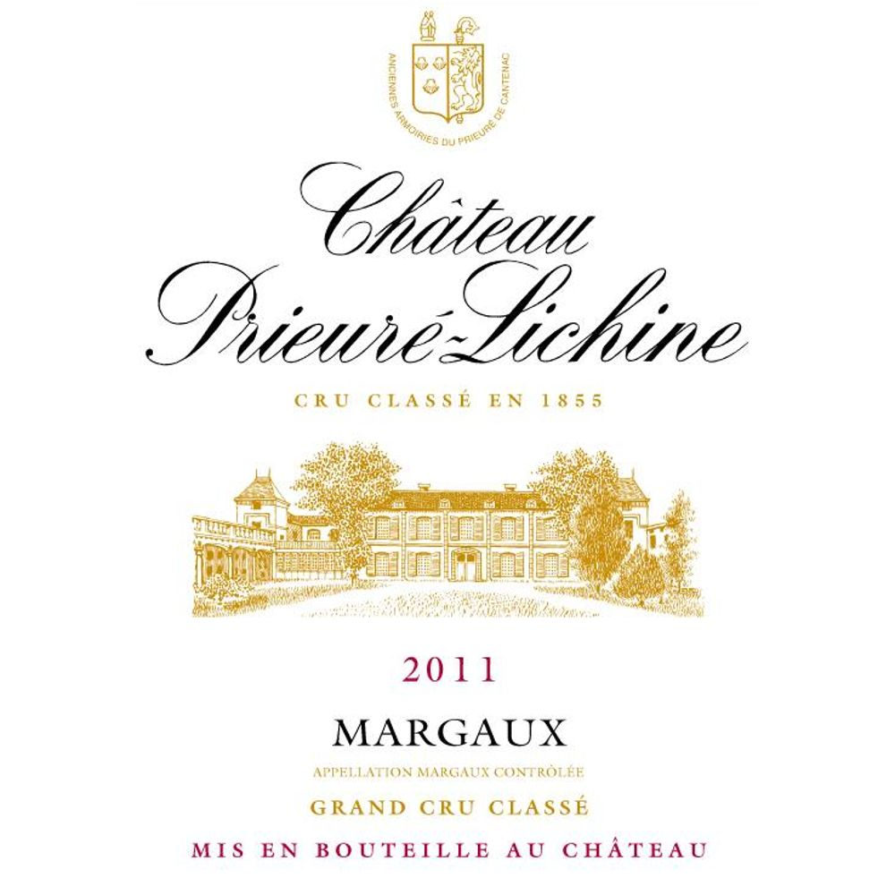 Chateau Prieure-Lichine  2011 Front Label