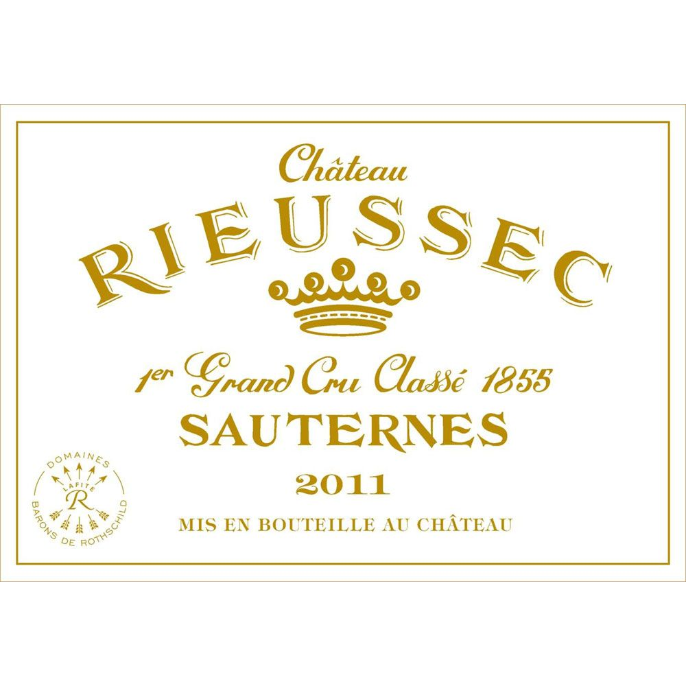 Chateau Rieussec Sauternes (375ML half-bottle) 2011 Front Label