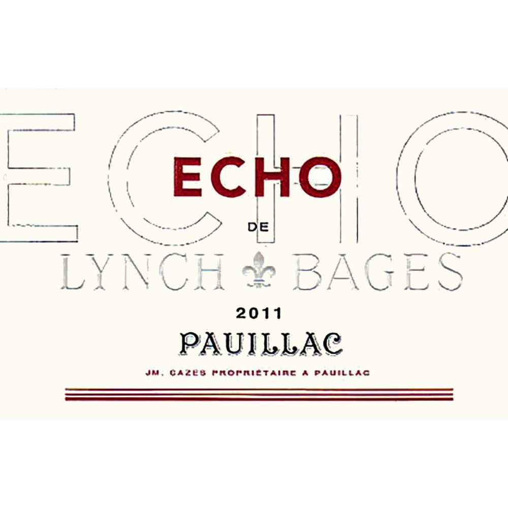 Chateau Lynch-Bages Echo de 2011 Front Label