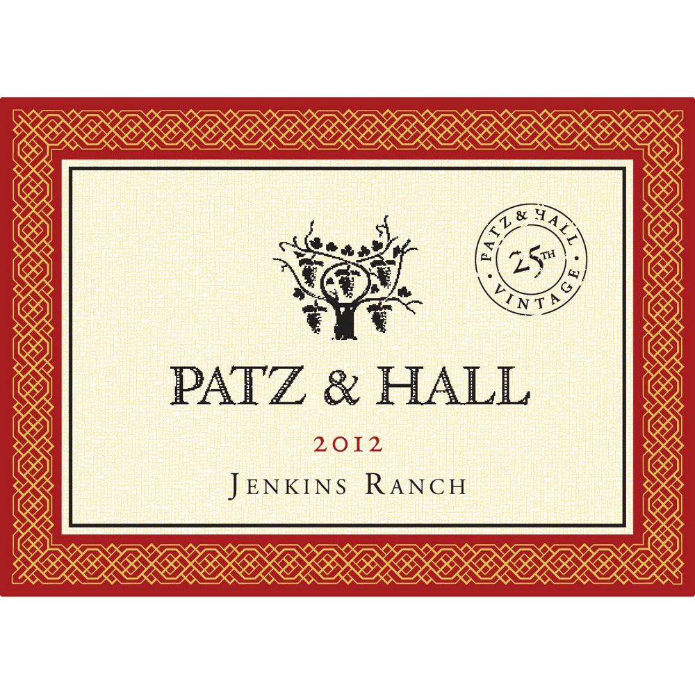Patz & Hall Jenkins Ranch Pinot Noir 2012 Front Label