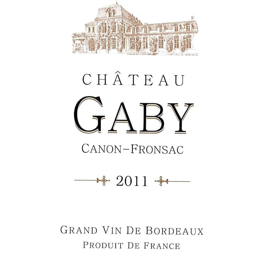 Chateau du Gaby  2011 Front Label