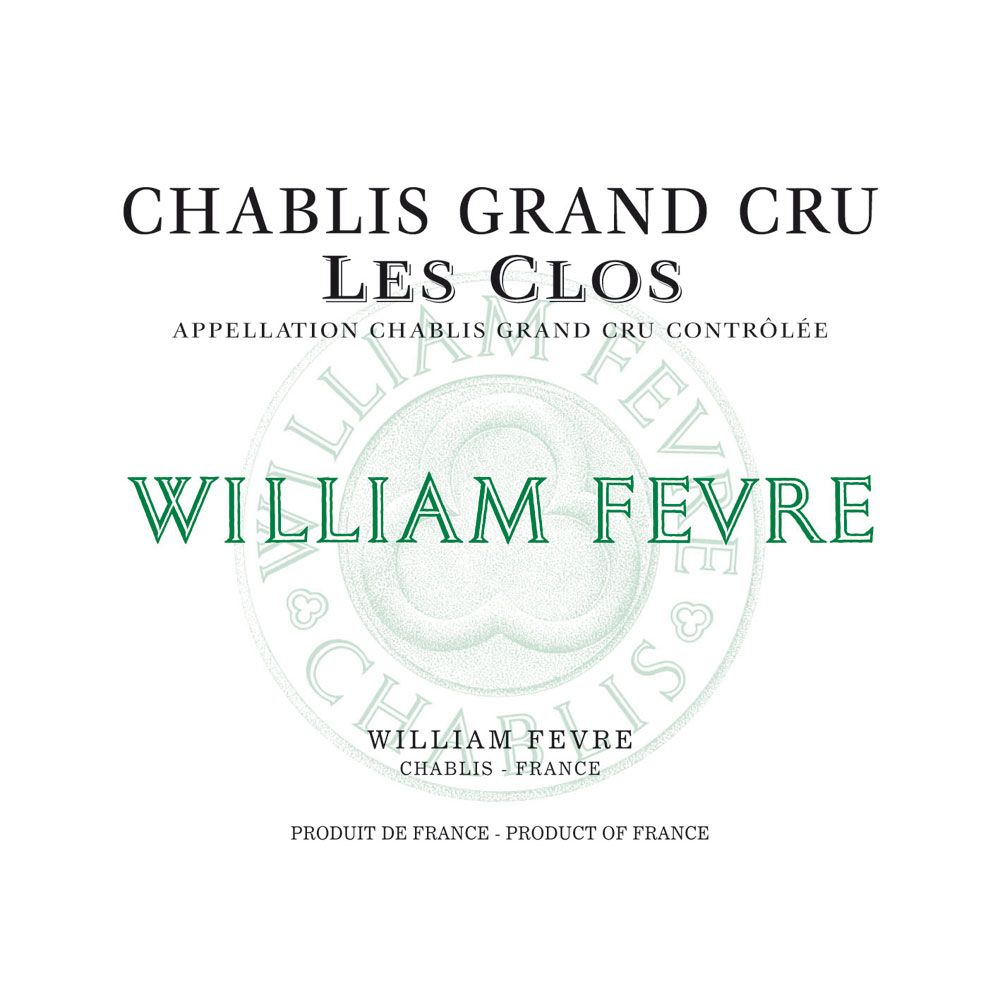William Fevre Chablis Les Clos Grand Cru 2012 Front Label
