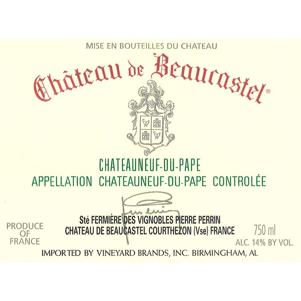 Chateau de Beaucastel Chateauneuf-du-Pape (375ML half-bottle) 2008 Front Label