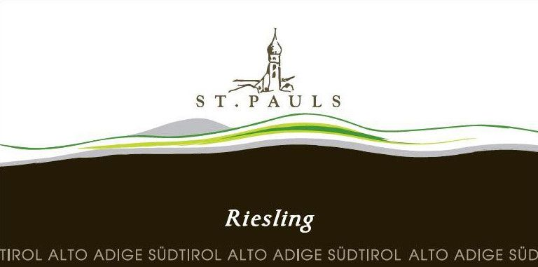 St. Pauls Alto Adige Riesling 2015 Front Label
