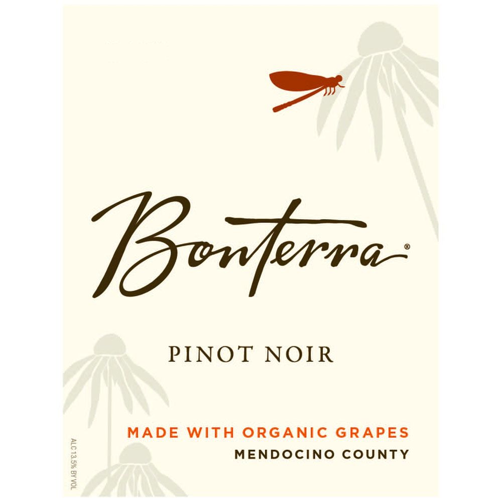 Bonterra Organically Grown Pinot Noir 2012 Front Label