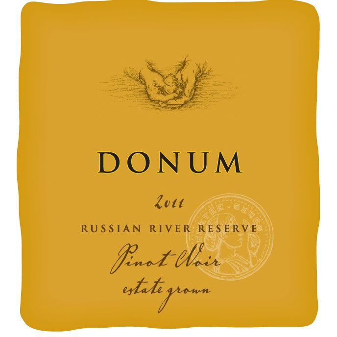 The Donum Estate Russian River Valley Reserve Pinot Noir 2011 Front Label