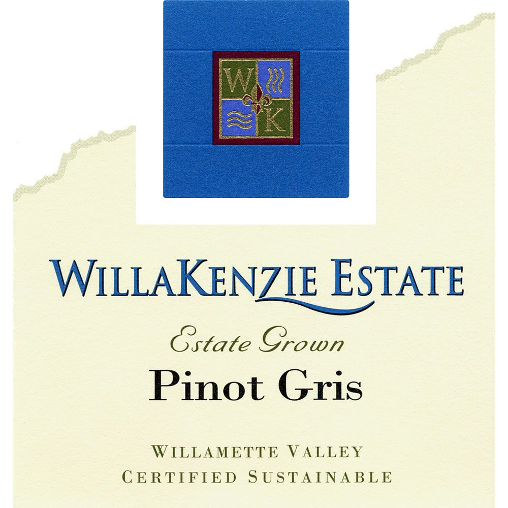 WillaKenzie Estate Pinot Gris 2012 Front Label