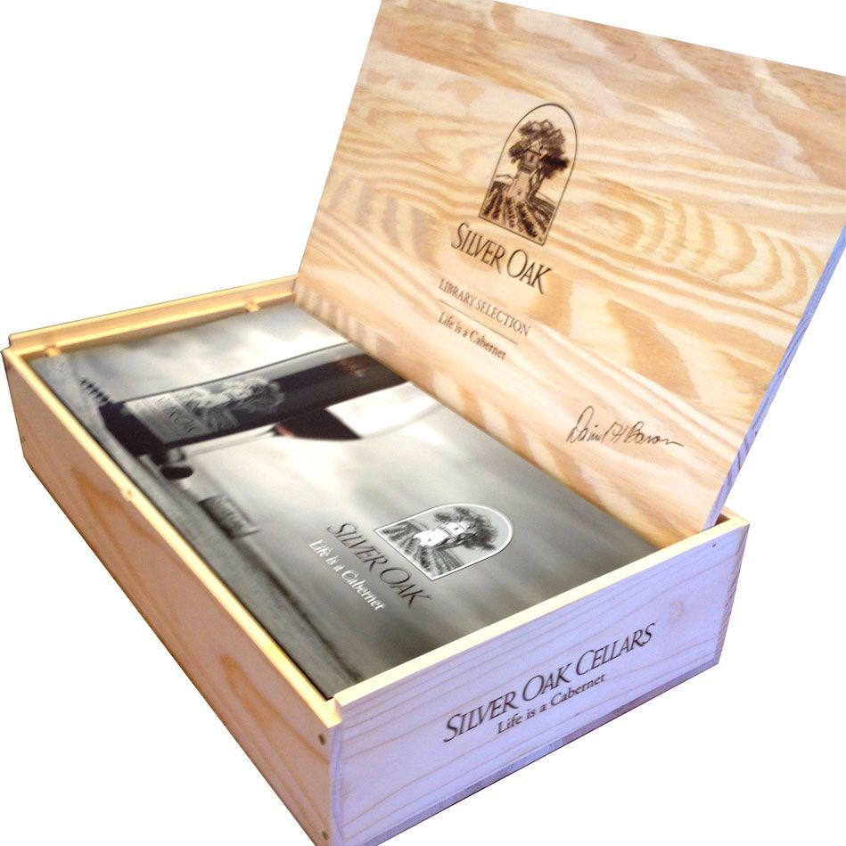 Silver Oak Napa Valley Library Edition 6-pack Wood Case 2005 2005 Front Label