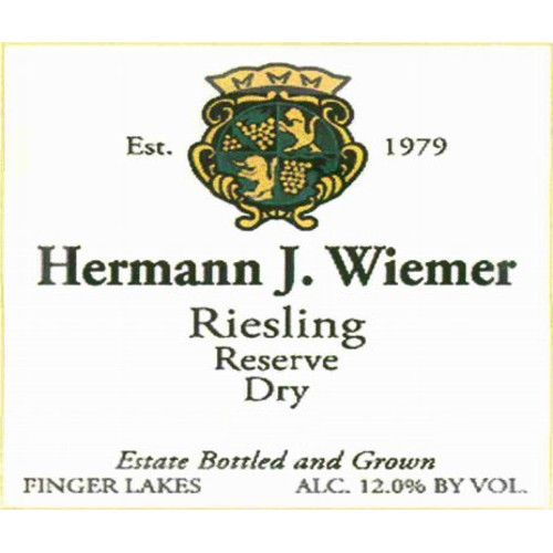 Hermann J. Wiemer Dry Riesling Reserve 2012 Front Label